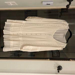 Carly Jean cream long sleeve dress
